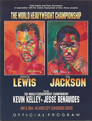 1994 LENNOX LEWIS vs PHIL JACKSON, WORLD TITLE PROGRAMME