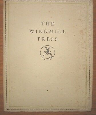 The Windmill Press, Kingswood Surrey Opening Ceremony brochue. Ltd edition 1928
