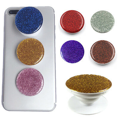 Cute Luxury Glitter Phone Pop Finger Holder Mount Grip Stand For Mobile phone