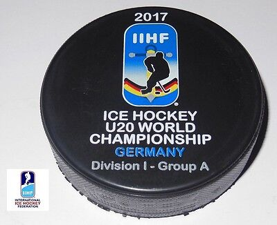 2017 IIHF official HOCKEY GAME PUCK world championship JUNIOR U20 divis.GERMANY
