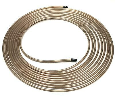 "Cupro Nickel Brake Pipe Line 3/16"" 25Ft Joiner For Male Female Nuts Tubing Joint"