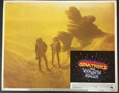 two astronauts in space suits Star Trek ll Wrath of Khan '82 #8 lobby card 1480