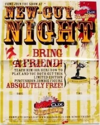 Horrorclix Poster New Guy Night Freakshow Paper Pierced Zombie Give Away Wizkids