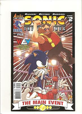 Archie Comics  Sonic The Hedgehog #269  WEV Wrestling Entertainment Variant