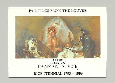 Tanzania 1993 Paintings from the Louvre, Art 1v S/S Imperf Chromalin Proof
