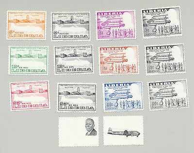 Liberia 1956 First Flight 6v x 2v Progressive Proofs Perf & Imperf