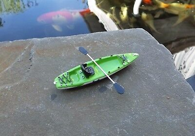 Premium Kayak w Paddle Green Miniature 1/24 Scale G Scale Diorama Accessory