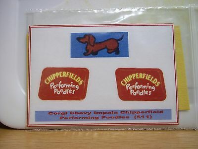 Corgi Chevy Impala Chipperfield Performing Poodles 511