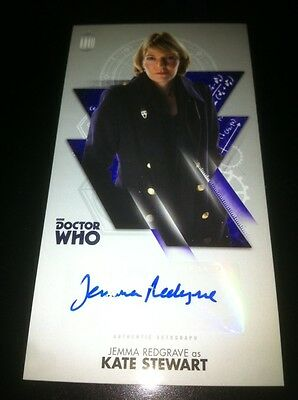 TOPPS Dr Who OVERSIZED  Autograph Auto Card  JEMMA REDGRAVE-Not Signature