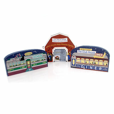 Cats Meow Village SWEET SIXTEEN ANNIVERSARY SET/3 Wood Convention 16 Set/3