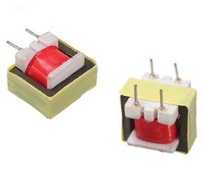 2 x Audio Isolation Signal Transformer EI14 1300 : 8 Ohm High Frequency 13k8