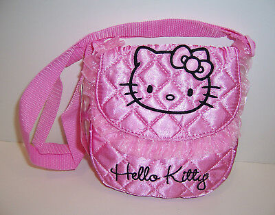 17f815bab140 Sanrio HELLO KITTY PINK SATIN Embroidered Shoulder Cross-Body Bag PURSE Tote  NEW