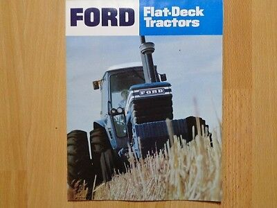 Ford Flat Deck Tractors brochure 6700 7700 8700 9700 tractors good 16pgs **