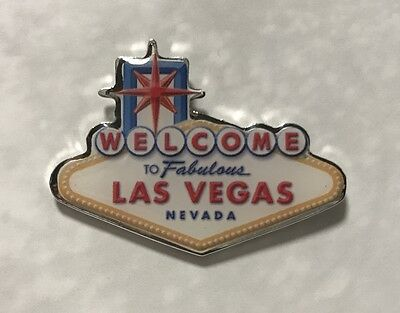 Las Vegas Welcome Sign Lapel Collector Pin Hat Jacket