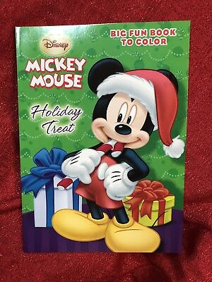 Disney Christmas Mickey Minnie Mouse Coloring Activity Book