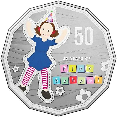 2016 Australia 50 Years of Play School Choice Unc Coloured 50c Coin Jemima
