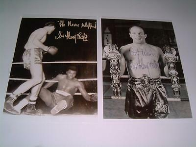 HENRY COOPER SIGNED REPRINT v MUHAMMAD ALI 1963 BOXING LEGEND PHOTOGRAPHS