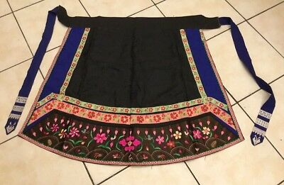 Vintage Chinese Miao Hmong Tribal Ethnic Folk Embroidery Costume Apron Skirt