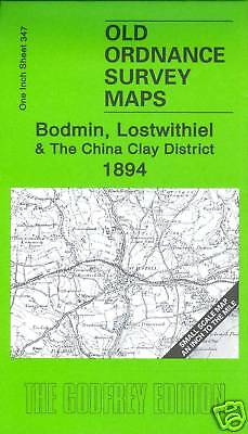 Old Ordnance Survey Map Bodmin, Lostwithiel & The China Clay Dist 1894