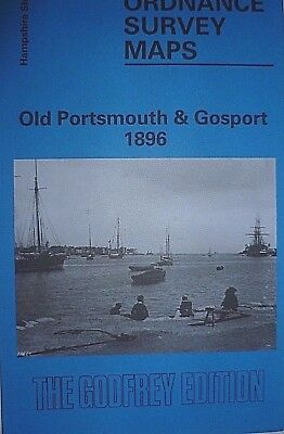 Old Ordnance Survey Map Old Portsmouths & Gosport Hampshire 1896 Godfrey Edition