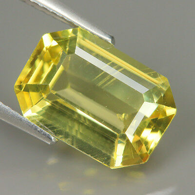 Fabulous 5.68 Ct Natural Unheated Yellow APATITE Octagon Gemstone @ See Video !!
