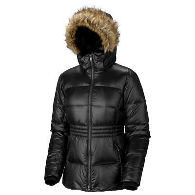 NEW COLUMBIA MIDTOWN MYTH DOWN JACKET w/Fur Hood Black Women's S/L Omni-Heat