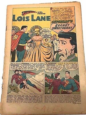 Lois Lane#2 Coverless 1959 Dc Silver Age Comics