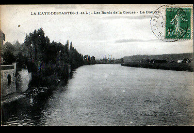 LA HAYE-DESCARTES (37) VILLAS & LAVANDIERES en Bords de CREUSE , la DOUVRE 1922