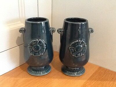 Vintage Pair Prinknash Vases Made in England