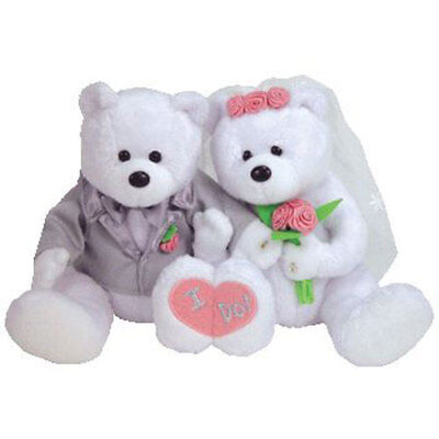 TY Beanie Babies - WE DO the Wedding Bears (set of 2) (8.5 inch) - MWMTs