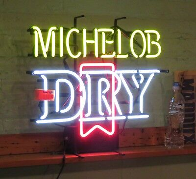 Vintage Michelob Dry indoor neon bar sign advertising WORKS   Pick up Cicero, IL