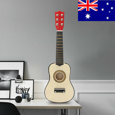 "AU 21"" Wood Beginner Acoustic Mini Guitar 6 String Kids Gift Children Music toys"