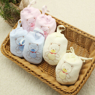 1 Pair Anti Scratch Mittens Infant Soft Cotton Handguard Newborn Baby Gloves