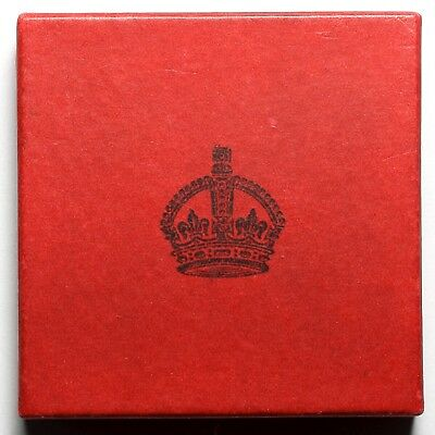 1935 King George V Great Britain Silver Proof Crown Specimen Coin Box