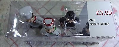 Novelty Chef & Waiter Serviette/napkin Ring Holders. New In Box.