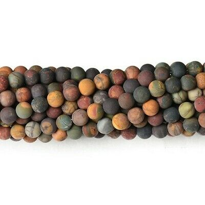 Picasso Jasper Round Beads 8mm Mixed 40+ Pcs Frosted  Gemstones Jewellery Making
