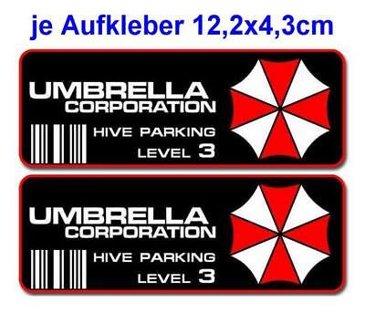 Resident Evil Umbrella Corporation Sticker Auto Aufkleber Car Hive Parking 12cm