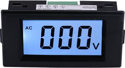 Yeeco AC 0600V LCD Display Digital Voltmeter Volt Panel Meter Voltage Monitor