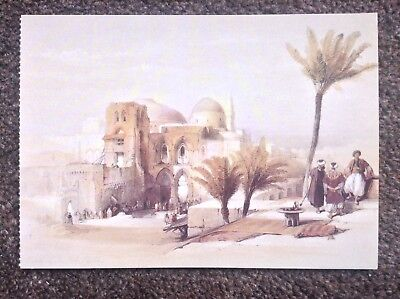 David Roberts POSTCARD Rare Vintage 1994 Egypt Art Church Of The Holy Sepulchre