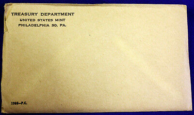 1958 U.S. PROOF SET. The envelope containing the set is sealed/unopened