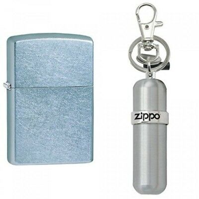 Zippo Chrome Lighter, Street Chrome with Fuel Canister