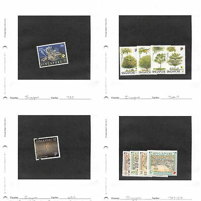 Lot of 57 Singapore MH Mint Hinged Stamps #109051 X R