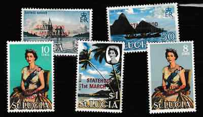 St Lucia - Statehood 1 March 1967 - 5 mint stamps