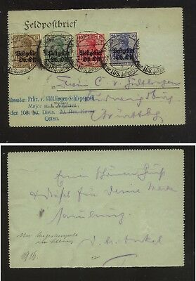 Lithuania   1N2, 3,5, 8   on  partial  letter card              KL0903