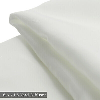 6.6 yd x 1.6 yd Translucent White Diffusion Fabric Photo Studio Softbox Lighting