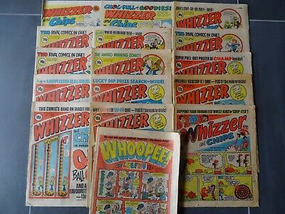 15 x Whizzer and Chips comics 1977 - 1984. 1 x Whoopee. Good / fair condition.