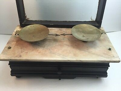Vintage APOTHECARY SCALE Henry Troemner DRUGGIST Scale Diamond Scale w/ Weights