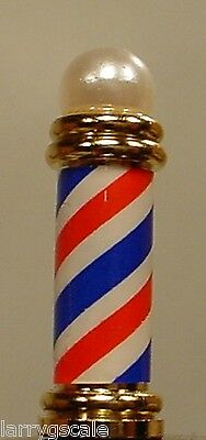 Barber Pole Miniature Diecast Shorty Styled 1/24 Scale G Scale Diorama Accessory