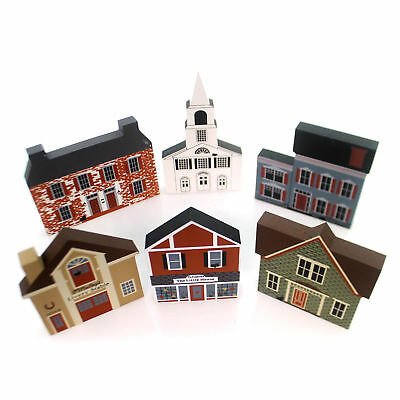 Cats Meow Village SERIES IV SET / 6 Wood Retired Series Iv S/6