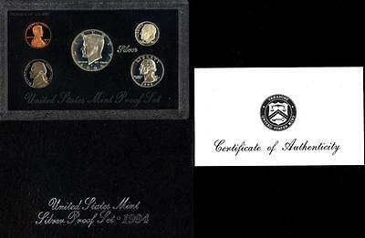 "***u.s. Mint ***1994 ""s"" United States 5 Coin Silver Proof Set Black Pack"